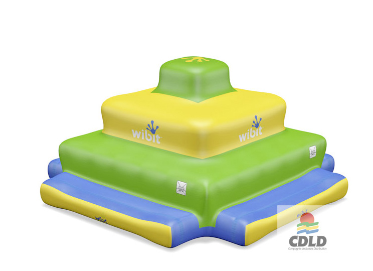 Pyramide Inca aquatique gonflable 3 niveaux