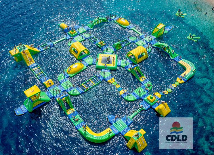 Parc aquatique géant Wibit - Parc aquatique modulaire gonflable Wibit XXL