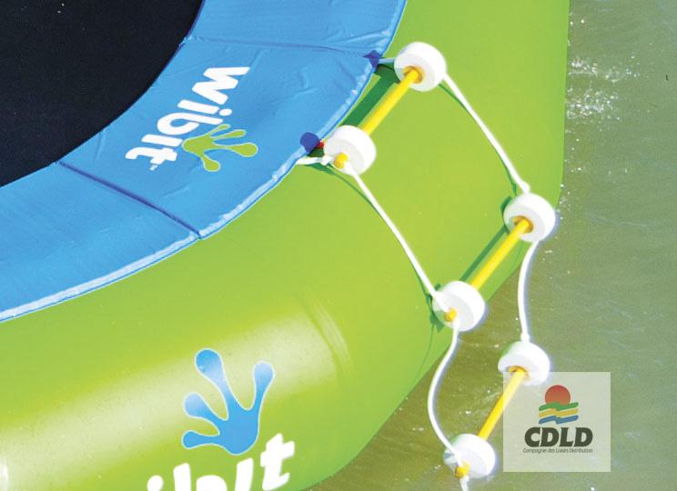 echelle trampoline aquatique