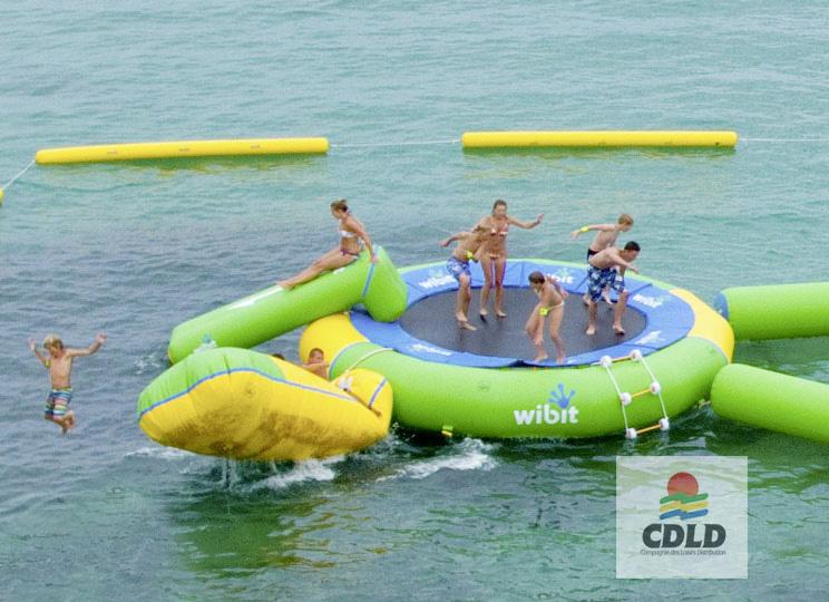trampoline flottant