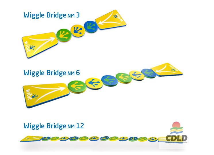 Le pont des Aventuriers flottant