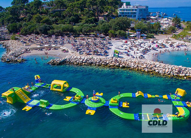 gonflable bord de plage parcours s