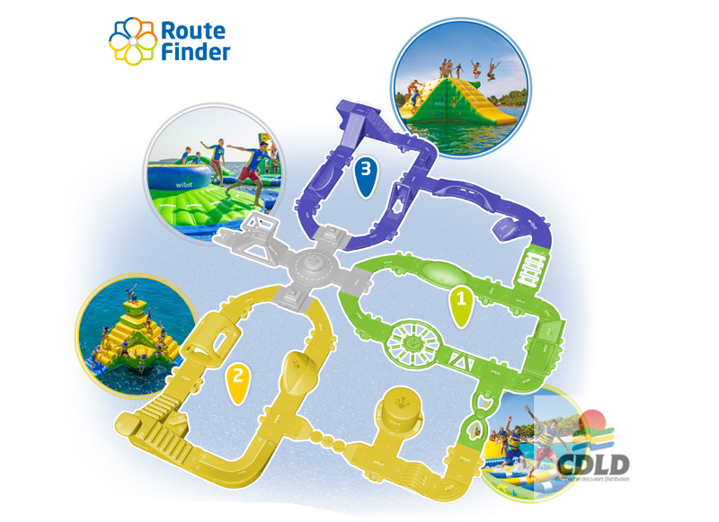 Le Super Parc aquatique gonflable Wibit version L