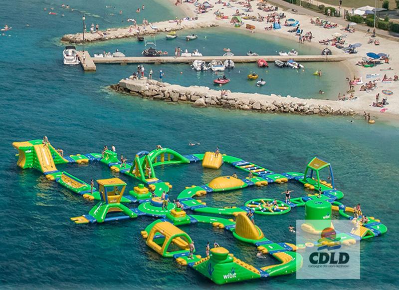 aquapark grosse capacité jusqu'à 150 personnes