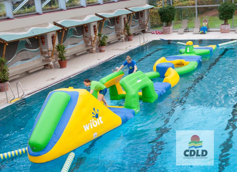 Parcours gonflable aquatique gymnastique